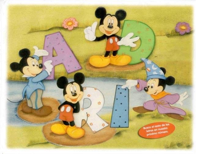 Cuadro Con Letras De Mickey Manualidades En Goma Eva Y Foami