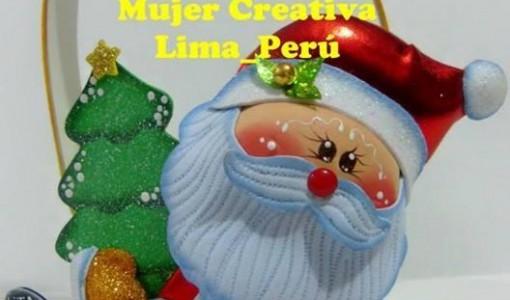Papa Noel Todo En Goma Eva - Manualidades-navideas-papa-noel