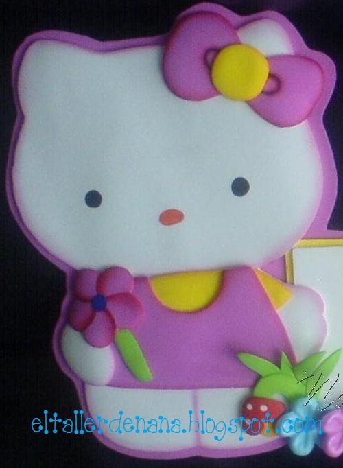 Aplique de Hello Kitty - Molde - Manualidades en Goma Eva y Foami