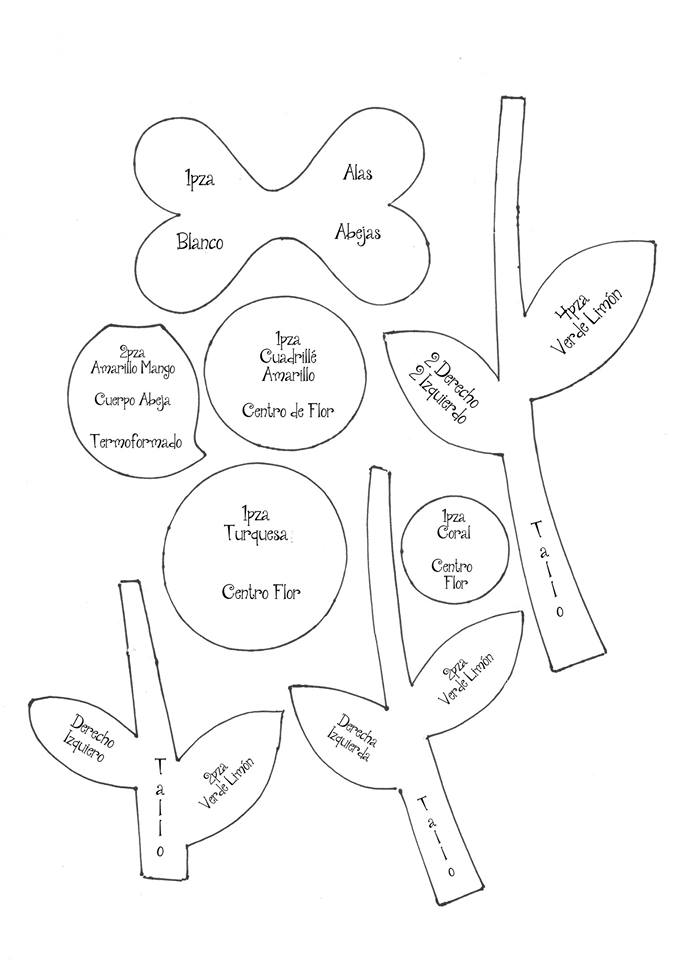 arreglo nena flores goma eva 4