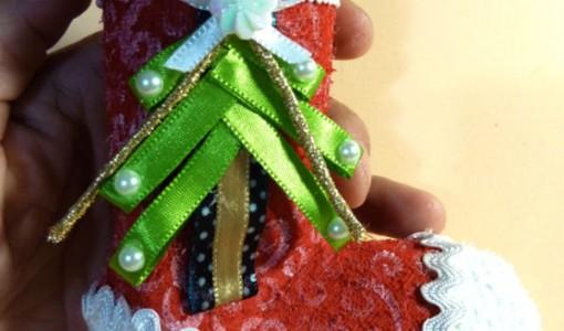 Media de Navidad en Goma Eva