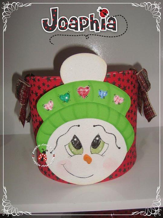 Como hacer un porta panetone de navidad manualidades en - Manualidades munecos de navidad ...