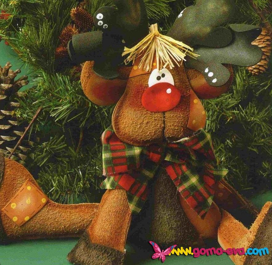 Precioso reno de navidad en goma eva manualidades en for Manualidades con goma eva para navidad