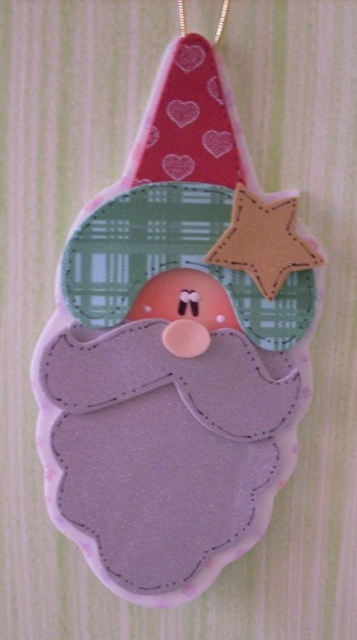 Varios adornos de navidad en goma eva con moldes - Manualidades navidad goma eva ...