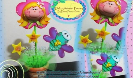 moldes de flores - todo en goma eva