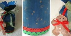bolsa de navidad artesanal