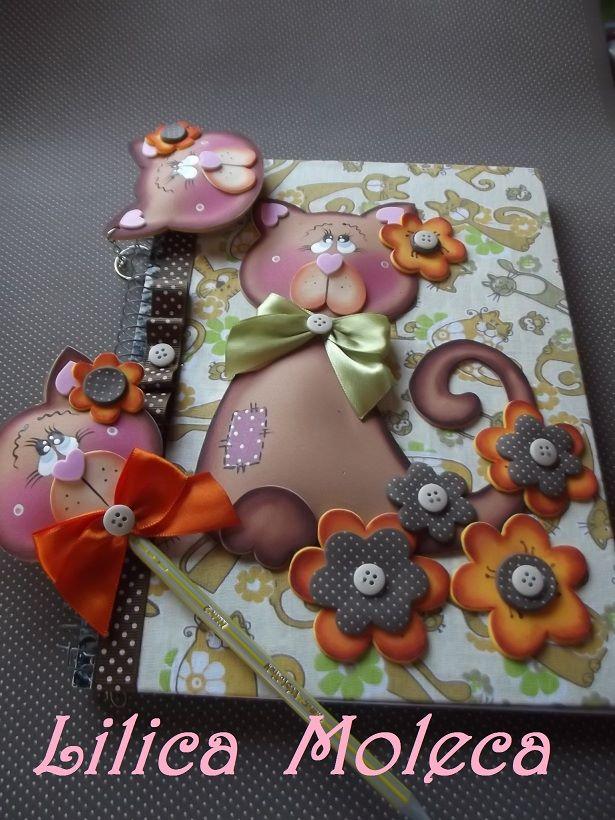 Kit cuaderno llavero y l piz gatito manualidades en goma for Decoracion de goma eva para cumpleanos