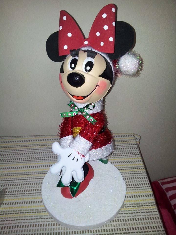 Fofucha minnie de navidad manualidades en goma eva y foami - Decoracion navidad goma eva ...