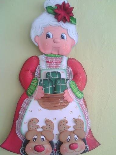 Abuelita Noel en Goma Eva - Manualidades en Goma Eva