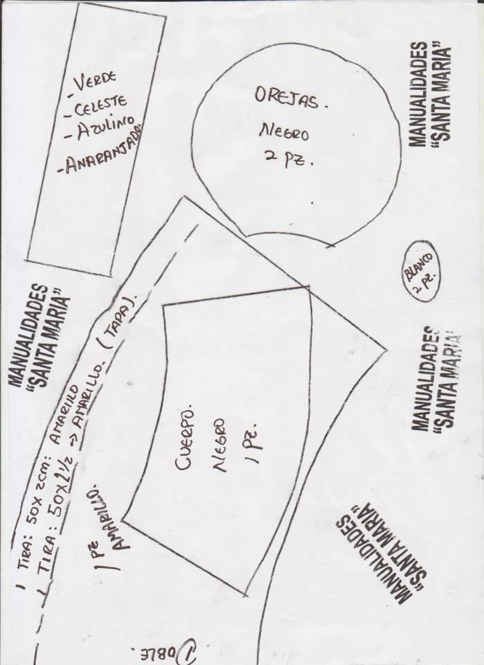 moldes de fofucha minnie navidad (3)
