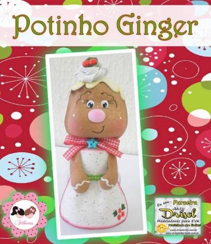Potecito de Navidad Ginger - Goma Eva Manualidades