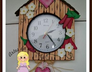 reloj de pared en goma eva