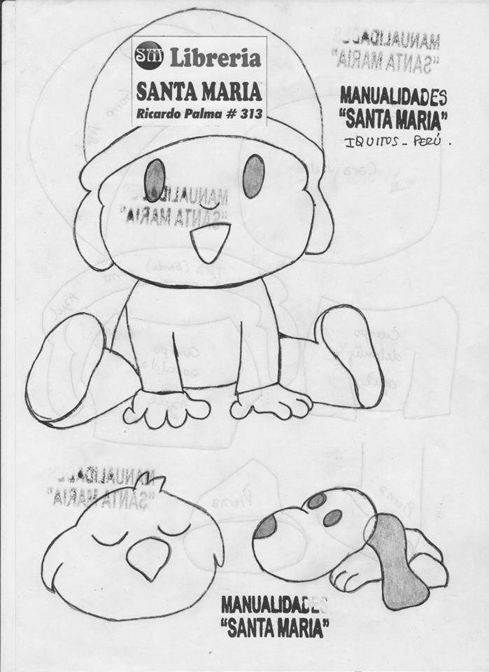 Cartel de Pocoyo en goma eva - Manualidades en Goma Eva y Foami