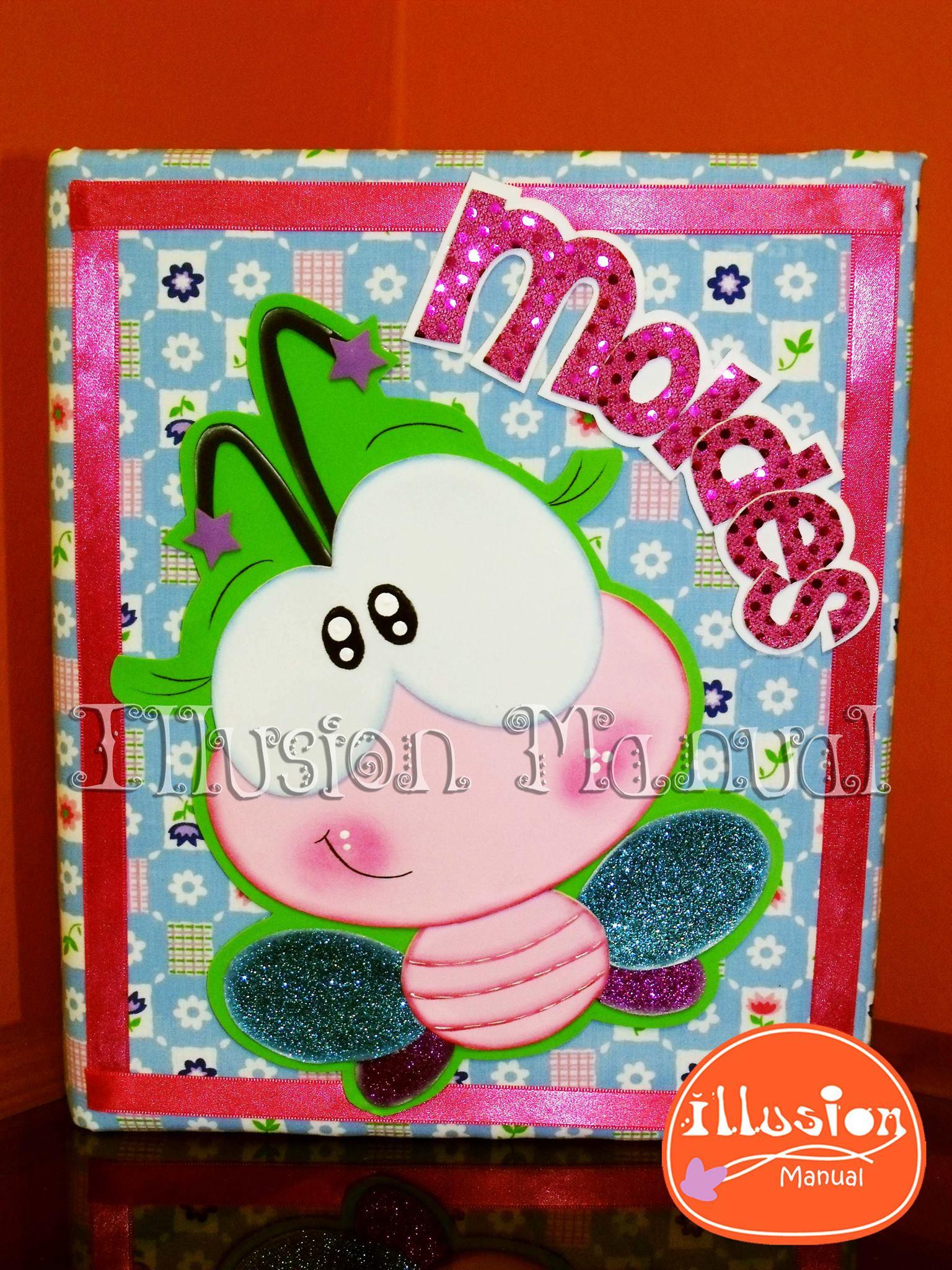 Cuaderno mariposa moldes manualidades en goma eva y foami for Decoracion infantil goma eva