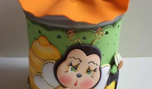 potes decorados - Todo en Goma Eva