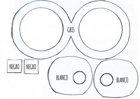 Mascara de los Minions de goma eva o foami 2