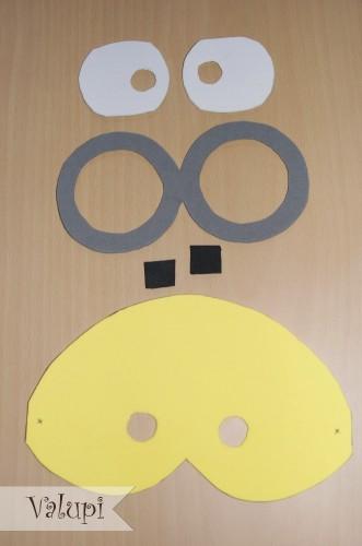 Mascara de los Minions de goma eva o foami 4