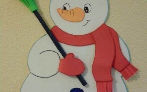 pincho mueco de nieve