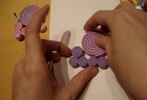 Caracoles de goma eva 3