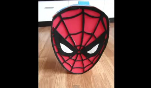 Mochila de Spiderman con goma eva 1