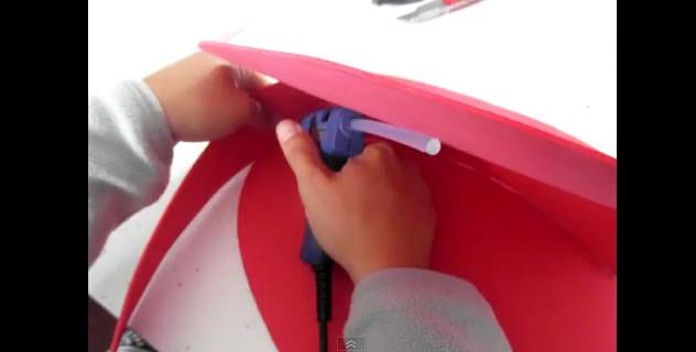 Mochila de Spiderman con goma eva 4