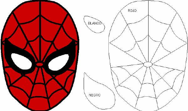 molde Mochila de Spiderman con goma eva