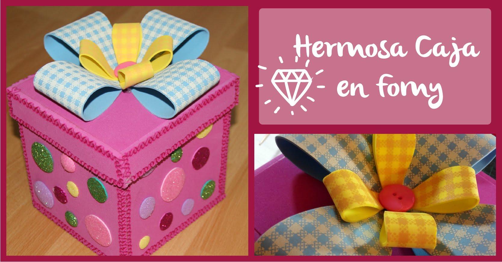 caja de regalo de goma eva manualidades en goma eva y foami