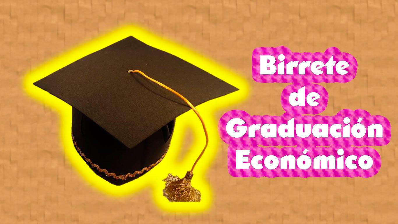 Birrete de graduación de goma eva - Manualidades en Goma Eva y Foami be4d4dc4865