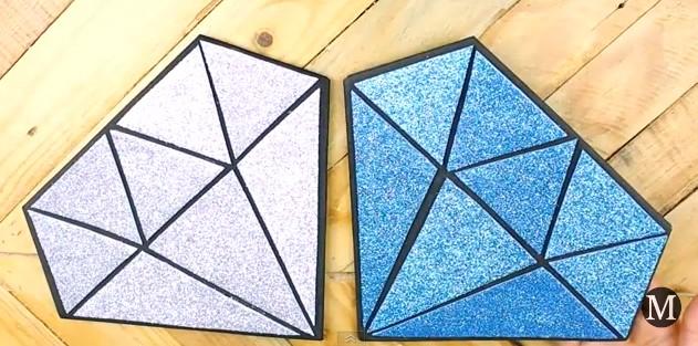 Bolso de goma eva con forma de diamante 10