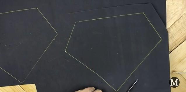 Bolso de goma eva con forma de diamante 3