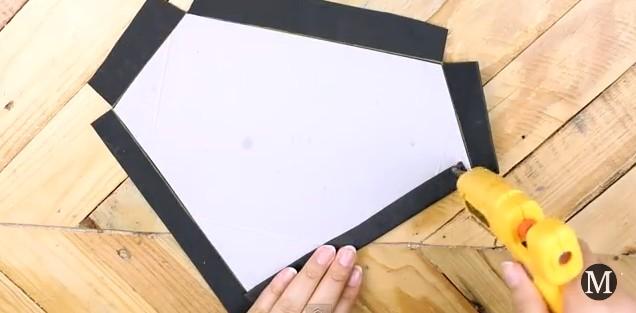 Bolso de goma eva con forma de diamante 6