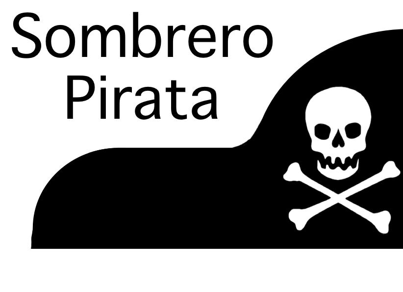 Sombrero y parche de pirata en goma eva 1