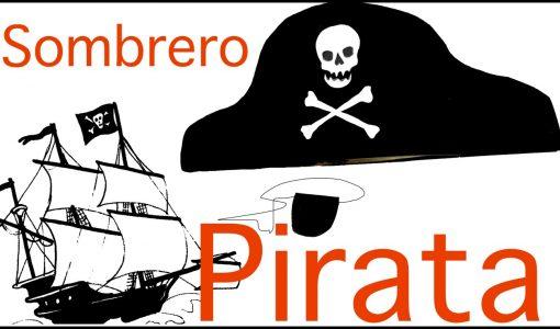 Sombrero y parche de pirata en goma eva