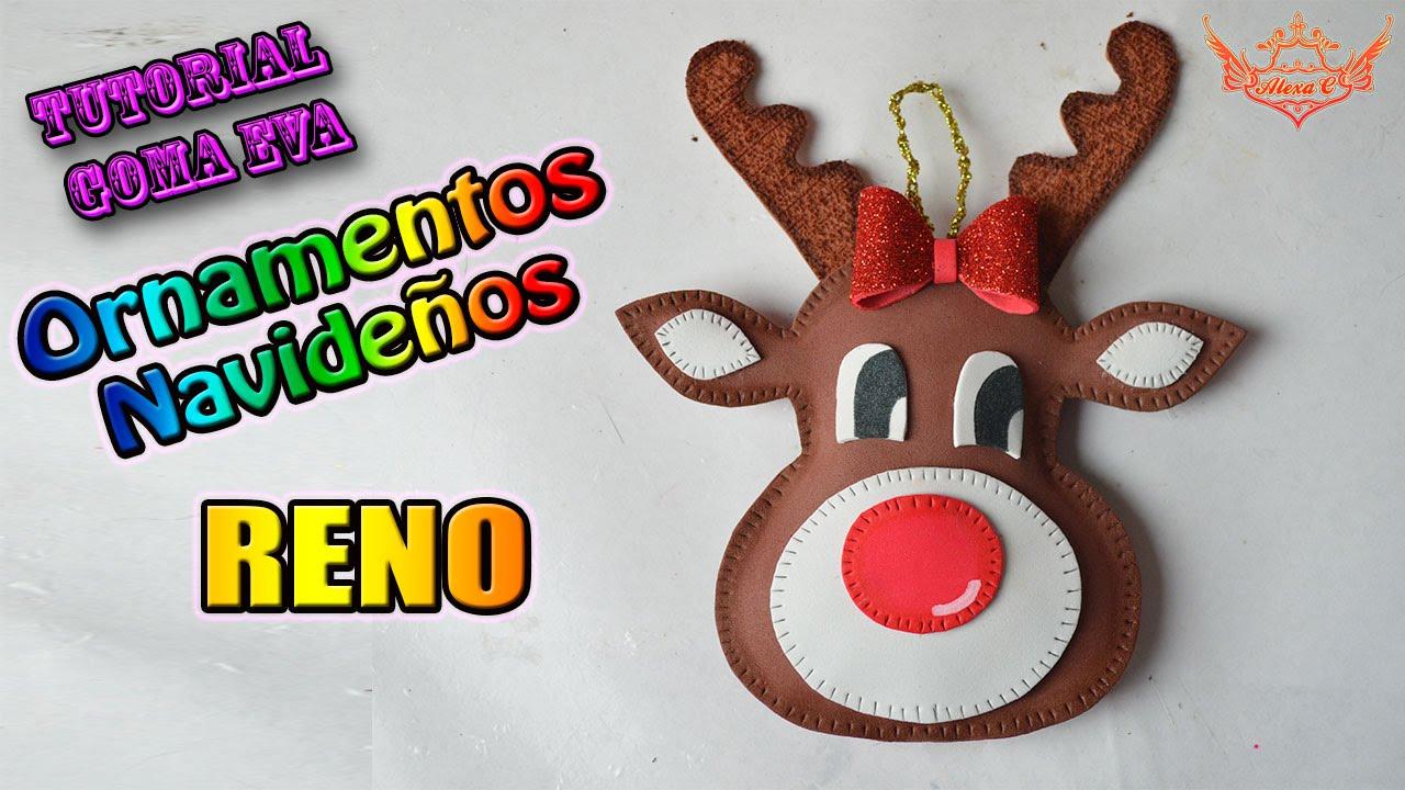 Reno de goma eva para navidad manualidades en goma eva y - Como hacer cosas de navidad ...