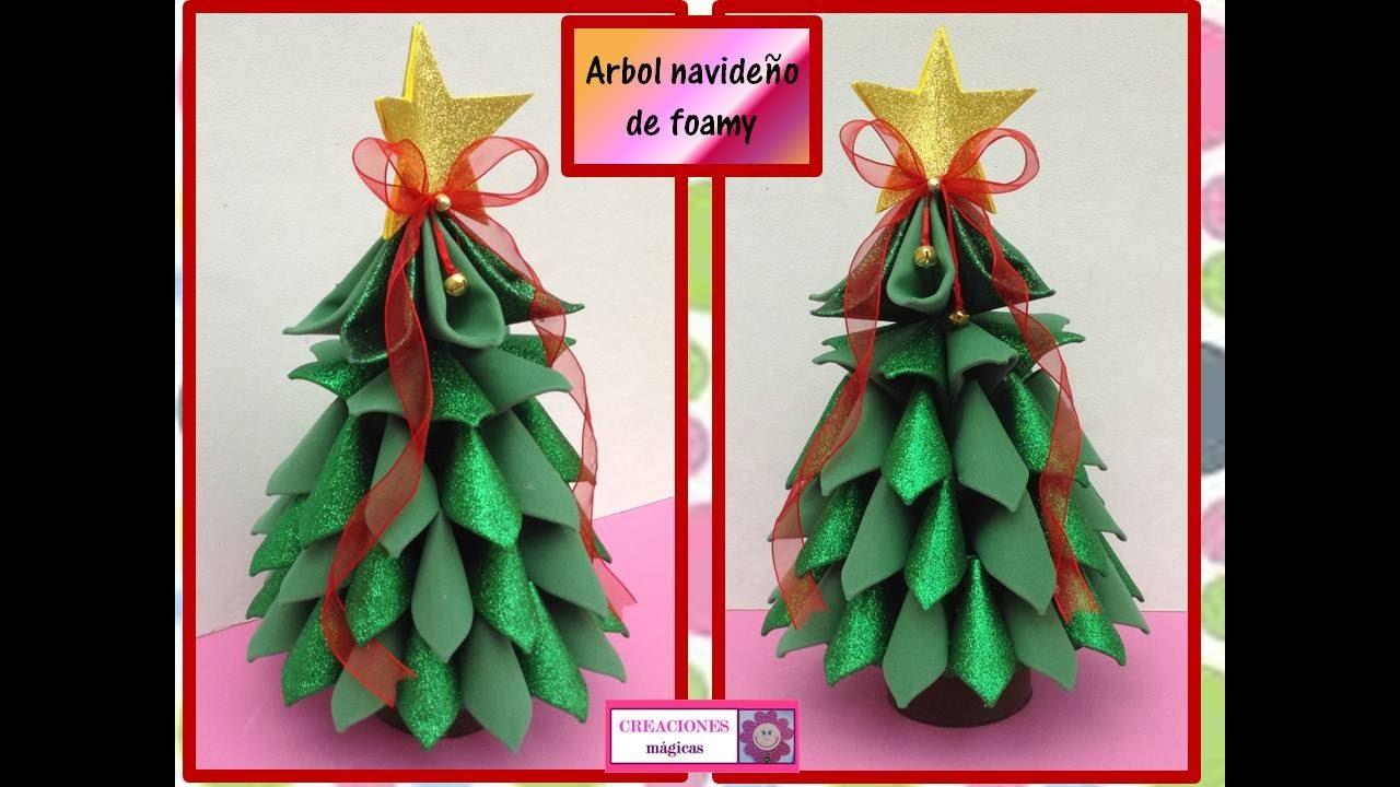Pino de navidad en goma eva manualidades en goma eva y foami - Decoracion navidad goma eva ...