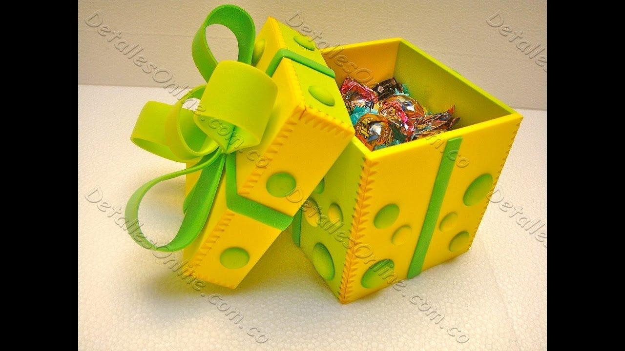 caja de goma eva para regalo manualidades en goma eva y
