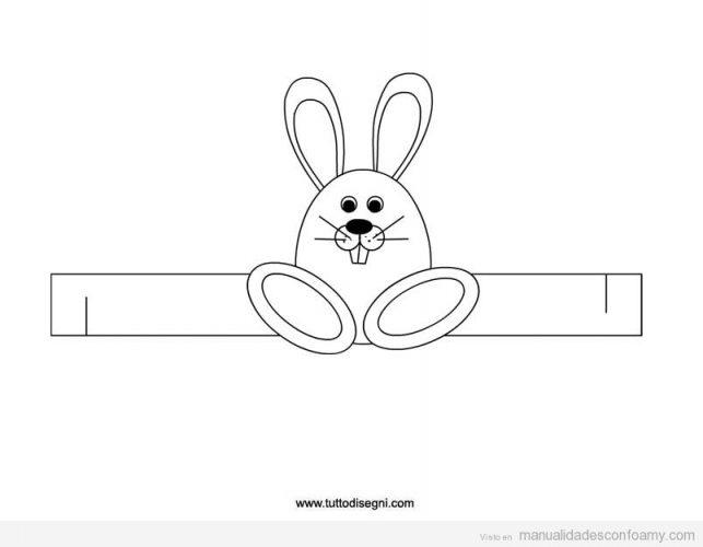 Canasta de goma eva con conejo para Pascuas 13