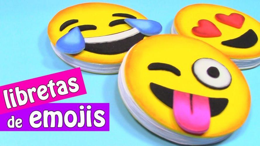 Cuaderno de emojis en goma eva