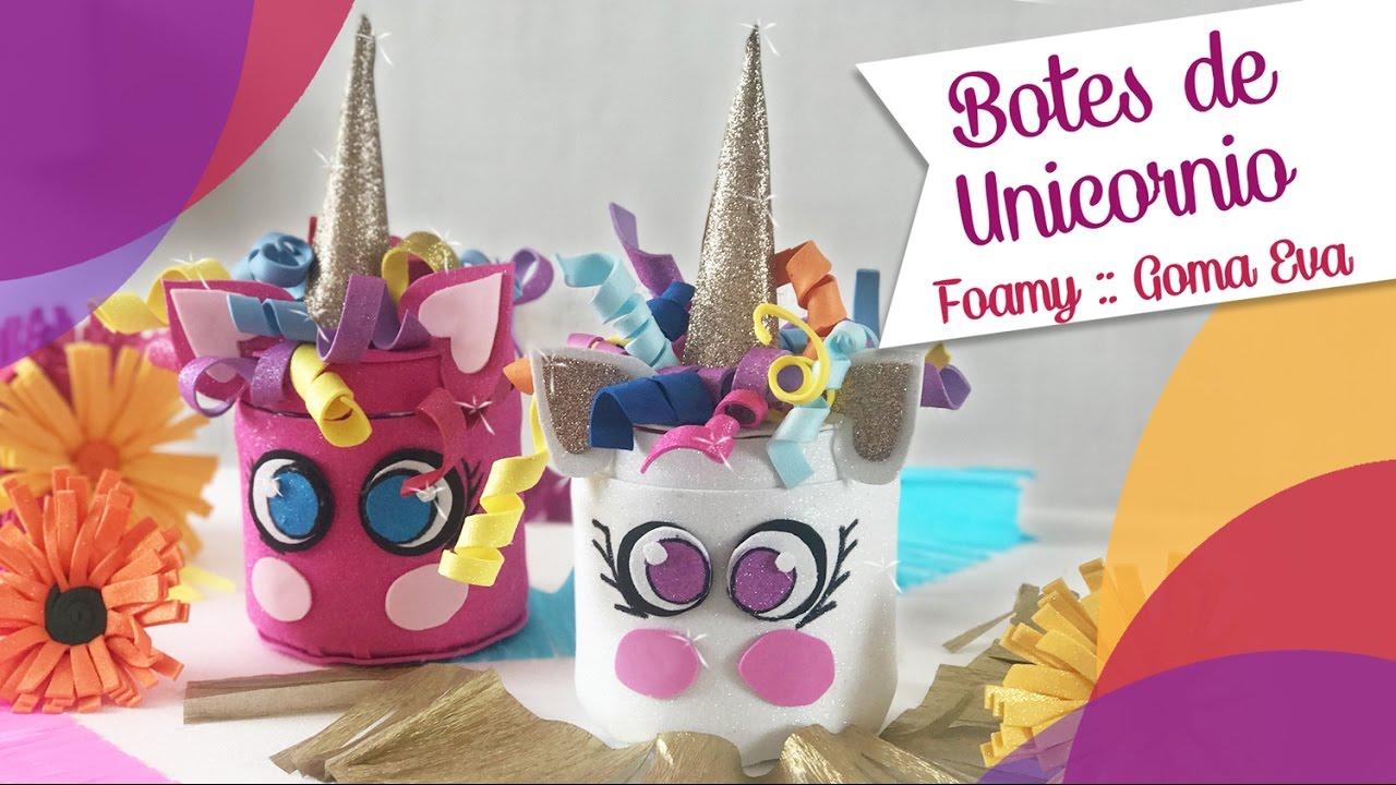 Caja de unicornio kawai en goma eva manualidades en goma for Materiales para goma eva
