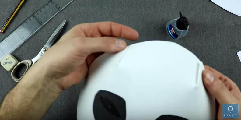 Mascara de calavera en goma eva 14