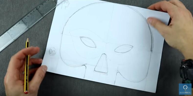 Mascara de calavera en goma eva 5