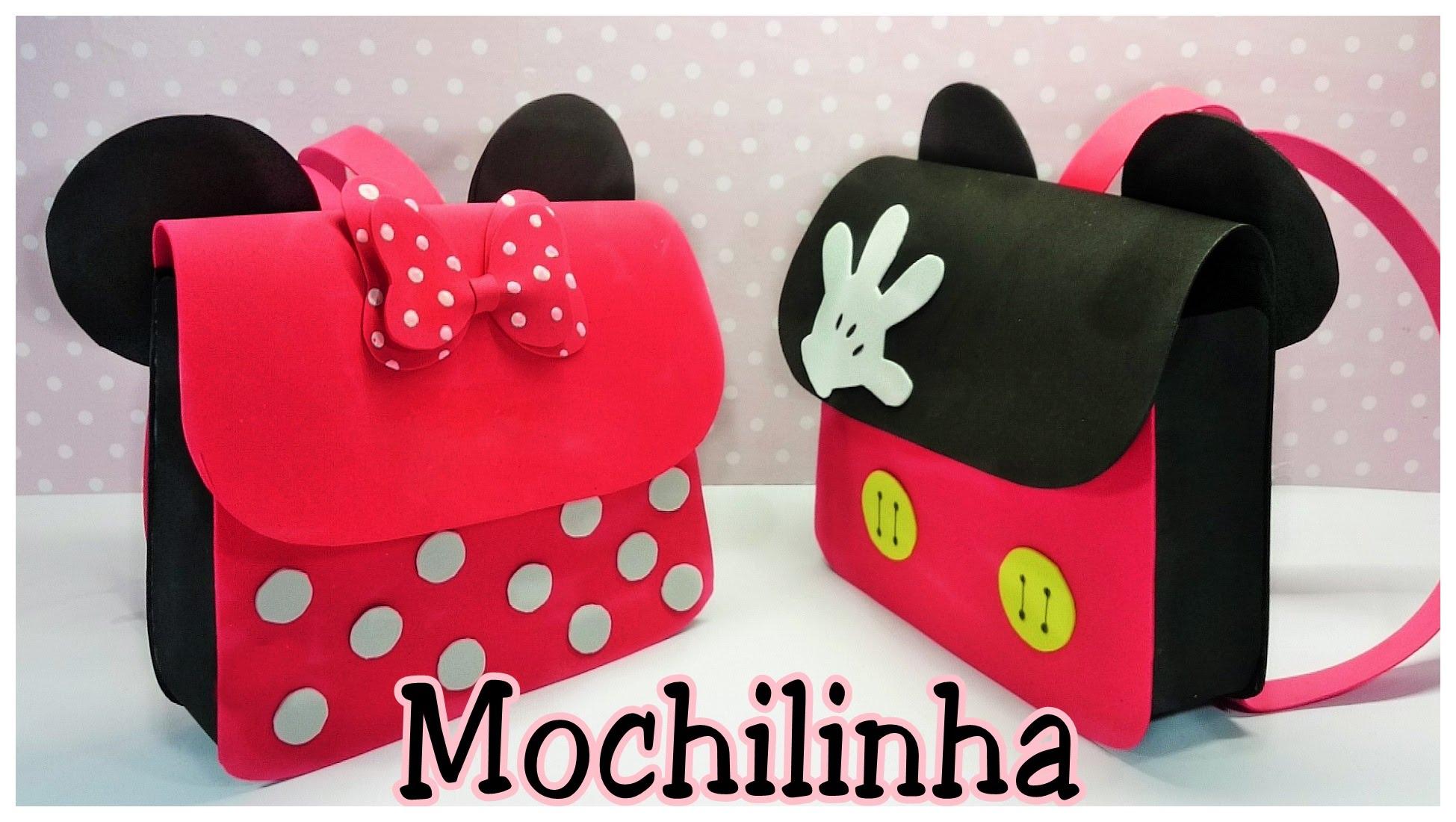 Mochila De Mickey Y Minnie Mouse Manualidades En Goma Eva Y Foami