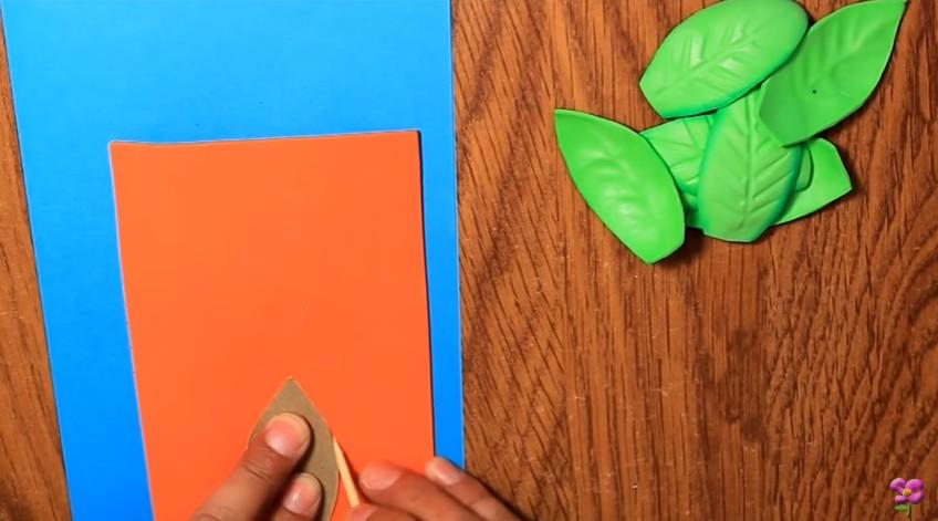 Cómo hacer hojas de goma eva grabada - Manualidades en Goma Eva y Foami