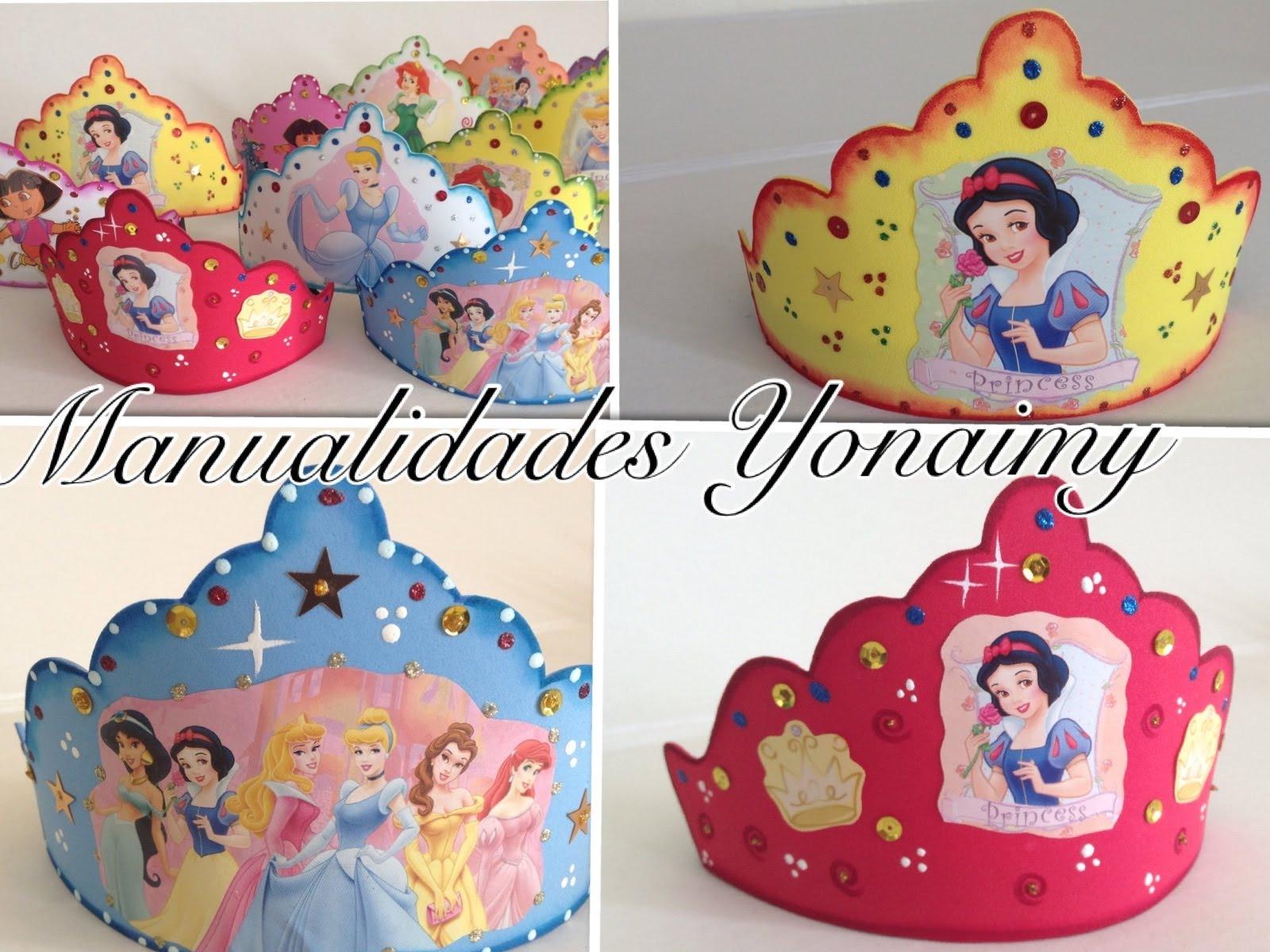 Corona de princesa de disney en goma eva manualidades en - Lamparas con goma eva ...