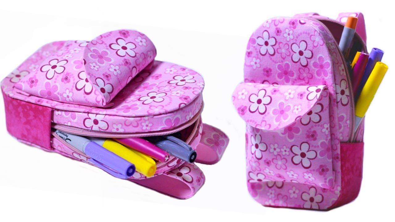 Estuche con forma de mochila en goma eva manualidades en - Formas goma eva ...