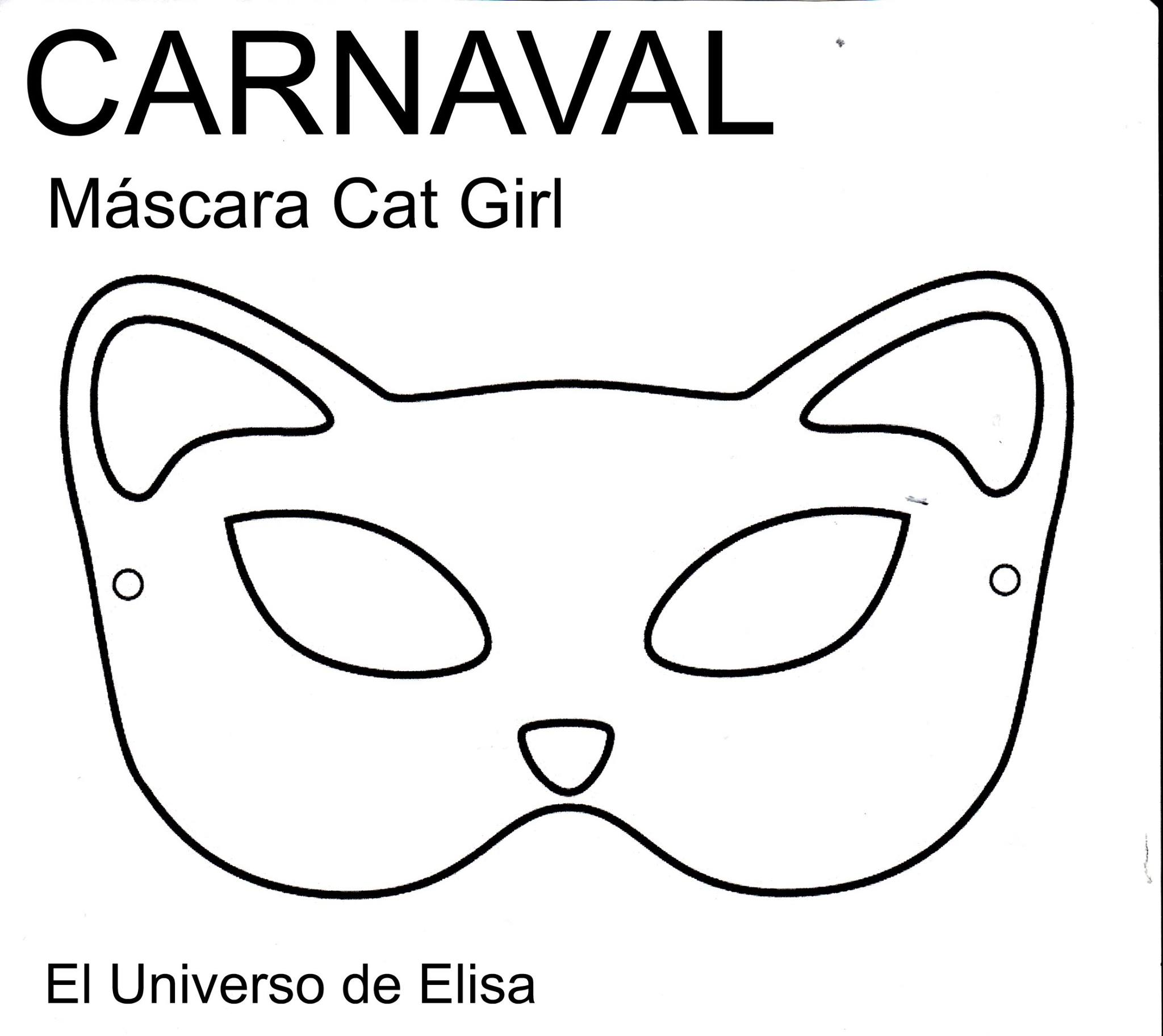 Encantador Hola Plantilla De Máscara De Gatito Colección - Colección ...