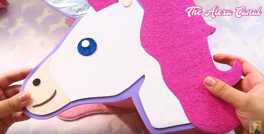 Bolso De Goma Eva Con Forma De Unicornio Manualidades En Goma Eva